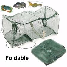 Fishing Bait Trap Fish Net Cast Dip Cage Crab Minnow Crawdad Shrimp Foldable NEW