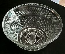 ~Vintage Anchor Hocking Clear Wexford Salad, Serving, Punch Bowl Diamond point~