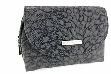 GIVENCY Black Printed Fabric Makeup Cosmetics Pouch/ Clutch Bag with Mirror