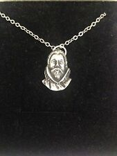 Francis Drake R174 English Pewter on a Silver Platinum Plated Necklace 18""