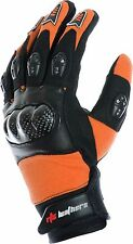 RTX Pro X-Trail ORANGE Vented Armoured KTM MOTOCROSS Short Leather Gloves MEDIUM
