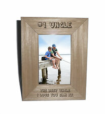 Number 1 Uncle Personalised Photo Frame 4 x 6 - Free Engraving