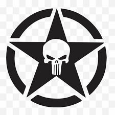 Punisher Army Logo Military Car Laptop Vinyl Graphic Decal Window Sticker Black