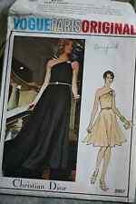 Vintage 1970's Vogue Paris Original Christian Dior Evening Gown UNCUT (RF13)