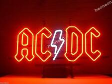New AC/DC AC DC Pinball Gmae Room HANDCRAFT Real Glass BEER BAR NEON LIGHT SIGN