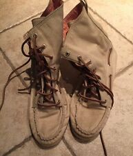 Sperry Top Sider for J Crew Off White High Top Ankle Boots Boat Shoe Women 8