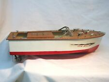 Vintage Fleet Line Sea Wolf Battery Powered Toy Boat, Working with Box