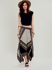 NEW Free People $128 Bedouin Traveler Multi Skirt - Black Combo Size M Sold Out!
