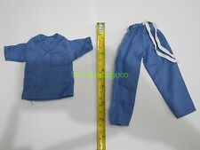 """1/6 Scale Costume Doctor Blue Dress Up Kids Scrub Suit For 12"""" Action Figure"""