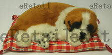 Sleeping Napping Lifelike Plush Dog Puppy on Pillow Collectable Toy LBR