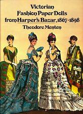 Victorian Fashion Paper Dolls-Harper's Bazar 1867-1898 - Full Color-1977 NM-MT