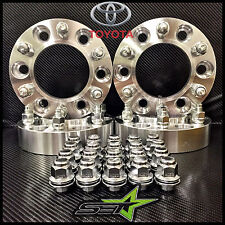 "4 TOYOTA WHEEL SPACERS HUBCENTRIC 6X5.5 | 2"" INCH 38MM +24 TOYOTA OEM MAG LUGS"