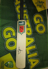 Michael Bevan (Australia) signed Puma Mini Cricket Bat + Photo Proof & COA