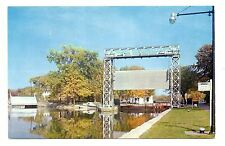 Waterloo New York Postcard Barge Canal Lock #4 Boats Vintage Unposted