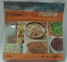 National Geographic MRE - Classic Chili - 6 Packs/12 Servings Best By: 06/21