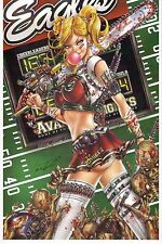 ZOMBIES v CHEERLEADERS CHEER Mag Cover Print HAND SIGNED Tyndall COA Eagles