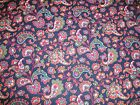 Red and Blue Paisley Quilting Fabric 50cm piece