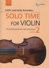 Solo Time for Violin 2 Music Book & Play-Along CD Kathy & David Blackwell Fiddle