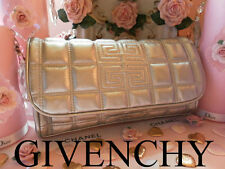 100%AUTHENTIC Ltd Edition GIVENCHY COUTURE SILVER MAKEUP~TRAVEL~Clutch~Large BAG