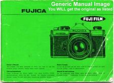 Fujica AX-1 Instruction Manual. More Fuji Camera Books & Guides Listed