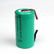 New 1PCS 3000mAh Ni-CD SubC Sub C 1.2V Rechargeable Battery With Tab Univerisal