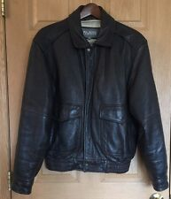 WILSONS * Mens Classic Brown Genuine Leather Bomber Jacket Thinsulate Liner * M