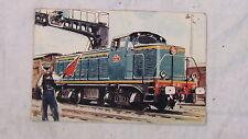 CPA COMITE NATIONAL DE L ENFANCE LOCOMOTIVE ELECTRIQUE SNCF TYPE 040 DE TRAIN