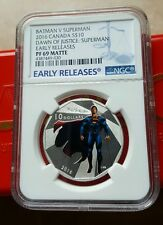 2016 Batman V Superman NGC PF69 ER Matte Canada 1/2 oz .999 Proof Silver Coin