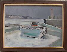 "Albert Abbe 1889-1966, ""Zugefrorener Hafen"" , datiert 1942"