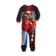 Lightning McQueen Cars Toddler Fleece Sleeper Pajamas One Piece Sz 4T