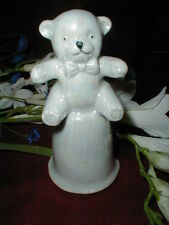 Opalescent Lusterware Luster Ware Iridescent TEDDY BEAR Child Nursery Baby Bell