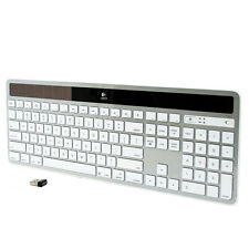 Logitech K750 Mac White Wireless Solar Keyboard for Mac White/Silver