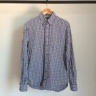 GITMAN BROS VINTAGE BUTTON UP PLAID OXFORD COLLARED SHIRT BROTHERS MSRP $198