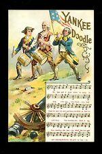 """Songs Vintage postcard Series #11 Chas Rose 1908 Patriotic """"Yankee Doodle"""""""