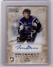 LUKE GREEN 14/15 ITG Leaf Prospects #53 GOLD Auto Autograph #/30 Rookie SP