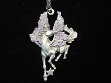 """JJ"" Jonette Jewelry Silver Pewter Majestic PEGASUS 16"" Necklace"