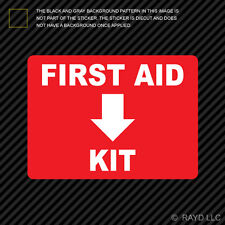 First Aid Kit Sticker Die Cut Decal Self Adhesive Vinyl emergency rescue