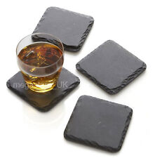 "Set of 4 piece,10x10cm 4x4"" Natural Slate Square Table Coaster Wine Glassess sa"
