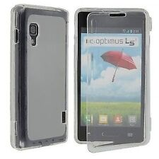 CUSTODIA COVER per LG E460 OPTIMUS L5 II  SILICONE ULTRA JELLY CASE BIANCA
