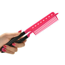 Folding V Comb Hair Straightener Hairdressing Salon Straightening Brush MO
