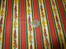 "975.  Retired LONGABERGER SNAPDRAGON STRIPE Cotton Fabric - 52"" x 4 3/4 Yds."