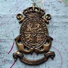 Old Spanish Navy Metal Plaque Tampion Crest : M43 Guadalquivir D.M.