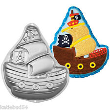 WILTON Pirate SHIP Cake Pan 2105-1021 BOAT  ARRR.. Witch