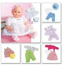 McCall's 4338 Sewing Pattern to MAKE Baby Doll Clothes suitable for Zapf Dolls