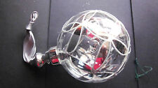 1 CLEAR GLASS CHRISTMAS TREE BAUBLE WITH SILVER MIRROR FINISH DESIGN.
