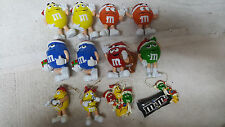 10) VINTAGE M&M'S CHARACTERS CHRISTMAS ORNAMENT  /  MIXED LOT /  COOL !!!