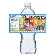20 DISNEY DOC MCSTUFFINS PERSONALIZED BIRTHDAY PARTY FAVORS WATER BOTTLE LABELS