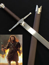 Medieval Braveheart Movie Sword w/ Scabbard and Wall plaque