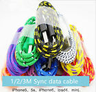 3FT 6FT 10FT BRAIDED USB SYNC DATA CHARGER CABLE 8PIN CORD FOR iPhone 5 6 PLUS