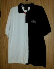 Rare Black White GUINNESS Embroidered Logo Size XL Polo Shirt Cotton